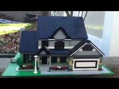Lego modern victorian house youtube for How to build a victorian house