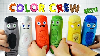 Learn Colors with COLOR CREW Soft Toys for Kids | All Of The Colors | Color Crew Live | BabyFirst TV