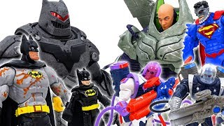 Power Rangers & Marvel Avengers Toys Pretend PLay | Batman vs Lex Luthor & Villains Superhero Toy
