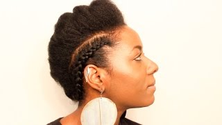 Natural Hair| Braided Faux Hawk| Protective Styling| BEAUTYCUTRIGHT