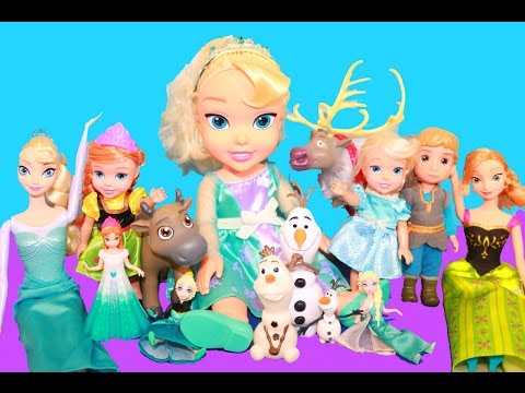 Frozen Toddler Young Elsa Frozen Toy Review Collection Disney Princess Queen Alltoycollector video
