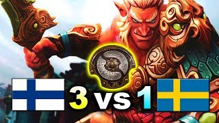 3vs1 TI CHAMPIONS - FINLAND vs SWEDEN - WESG 2018 DOTA 2
