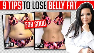 9 Tips To Lose Belly Fat │ FOR GOOD │ Gauge Girl Training