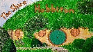 Hobbiton | The Shire | Bag End | Acrylic on Canvas | DC