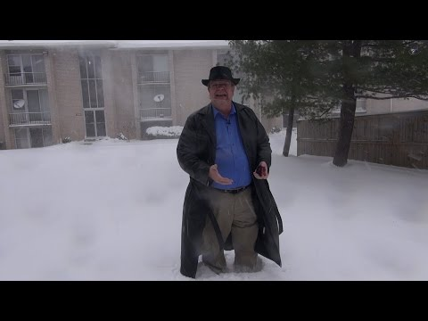 Snowstorm in Washington DC area