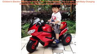 Promo Children's Electric Motorcycle Tricycle The 1-6 Year Old Baby Toy Car With Light Baby Chargin