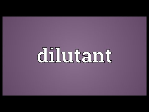 Header of dilutant