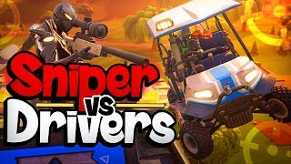SNIPER VS DRIVERS - Fortnite Mini-Game met Duncan, Dodo & Vincent