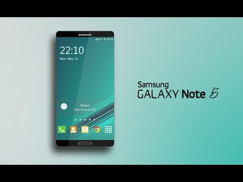 Samsung Galaxy Note 5 Slim Design New Concept 2015