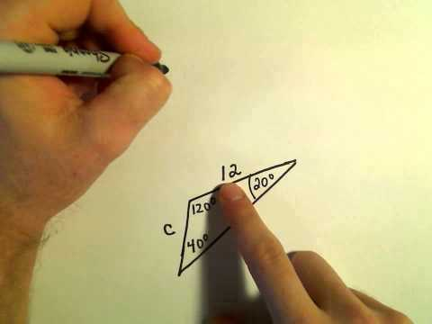 The Law of Sines, Example 1