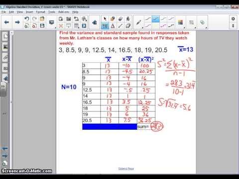 Coach Latham Algebra-Statistics Standard Deviation and Mean Absoute Deviation under 15