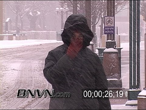 3/18/2005 Minneapolis, MN Snow Storm Stock Video