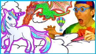Unicorn Coloring - Magical Unicorn Coloring & Drawing Page - Unicorn Colors DIY for Kids