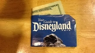 Disney Origami: Disneyland Map Wallet