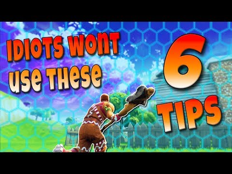Top 6 BEST Tips To Make You A Better Player! | Fortnite Battle Royale Tips And Tricks