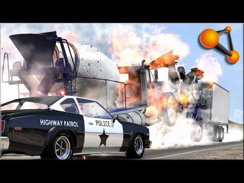 BeamNG Drive Trucks Vs Cars #7
