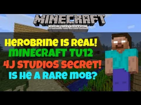 Minecraft Xbox 360 | Herobrine Is REAL!