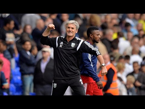 Alan Irvine reacts to 'fantastic' performance after Albion's 1-0 win at Tottenham Hotspur