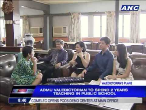 Ateneo valedictorian pursues dream to teach poor