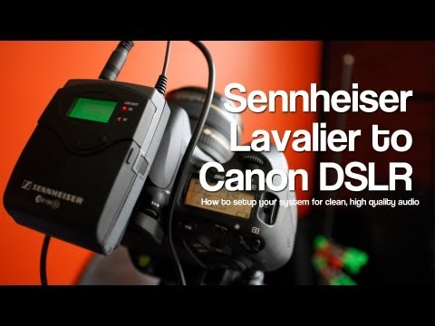 Sennheiser G2, G3 Settings For Direct to Canon DSLR (60D) Clean Audio