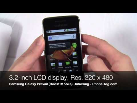 Samsung Galaxy Prevail Unboxing