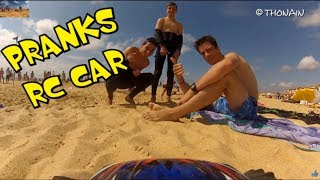 TRENDING FUN: BEACH & RC CAR - VIDEO GAG FPV - TRAXXAS  + GOPRO