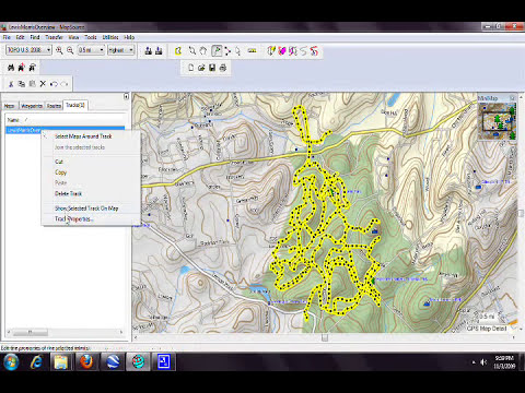 how to create a trail network map for a gps device in gpx format.