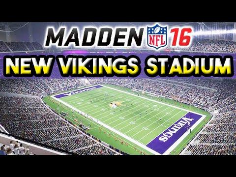 Madden 16 NEW Vikings Stadium Fly-Through (Day & Night)
