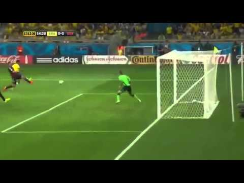 2014 FIFA World Cup semi final Brazil vs Germany 7-1 Highlights BBC