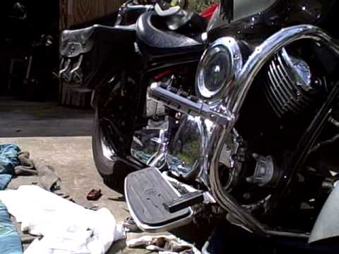 Add oil relocation kit to Yamaha V-Star 1100 Video