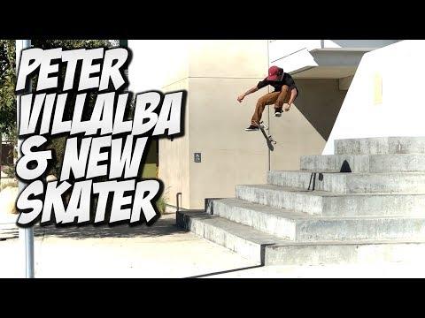 PETER VILLALBA & NEW SKATER JOEL PEREZ SKATE DAY !!! - NKA VIDS -
