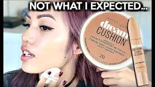 BRAND NEW | MAYBELLINE DREAM CUSHION FOUNDATION & DREAM BRIGHTENING CONCEALER REVIEW