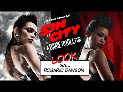 Look Rosario Dawson // Gail Sin City 2 // Tutoriel maquillage et coiffure