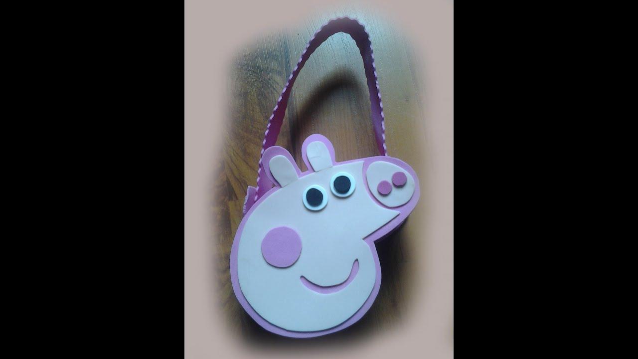 bolso de peppa pig en fomy   youtube