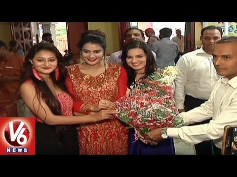 Heroine Jenny Launches Silk And Cotton Expo In Himayat Nagar | Hyderabad | V6 News