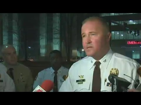 Two police officers shot at Ferguson protest