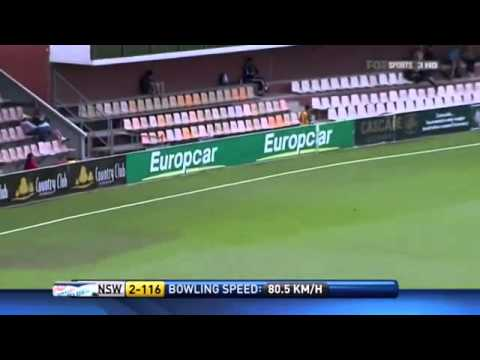 Phillip Hughes 93 vs Tasmanian Tigers 2010 11 Sheffield Shield.flv