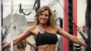 An Introducion to Super Fitness Mom Crystal Linder while she models in the Gym with Rob Sims
