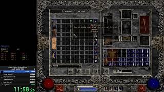 Diablo 2 - Sorc Norm Any% Speedrun New PB
