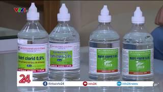 Nhập nhằng tên gọi và công dụng của nước muối sinh lý | VTV24