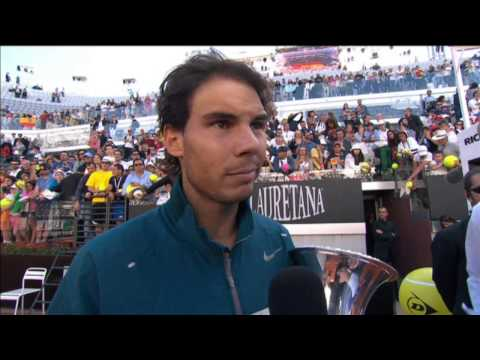 Nadal Discusses Beating Federer For Rome Title