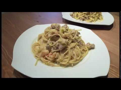 Espaguetis o Spaghetti Mar y Tierra - Recetas de pasta