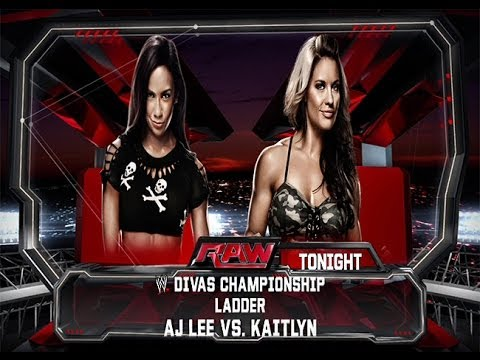 WWE 2K14: AJ Lee vs Kaitlyn- Divas Championship Ladder Match