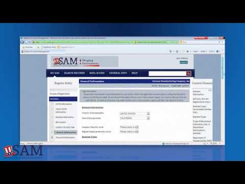 SAM - Updating Your Former CCR Registration in SAM