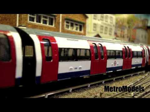 London Underground tube train model railway model subway railroad