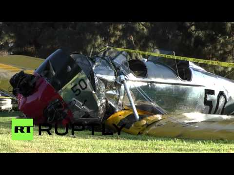 Harrison Ford's WWII plane crash lands, actor seriously injured