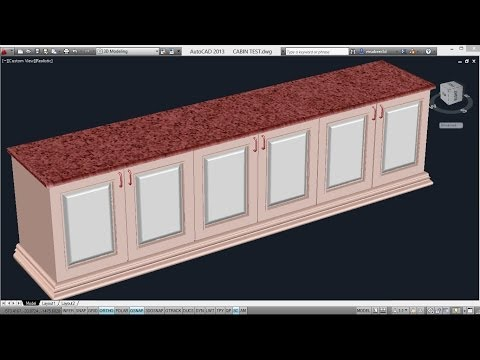 CREATING A COUNTER TOP | AutoCAD 3D CABINETS | AutoCAD 3D WARDROBE