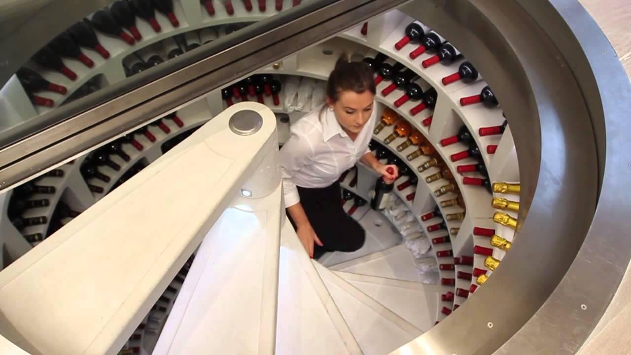 Restaurant Scenario White Spiral Cellar And Retractable