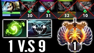 NO HUMAN Top 1 MMR Sea 1vs9 New Strongest Monster Carry [Slark] Epic Dota 2 Gameplay