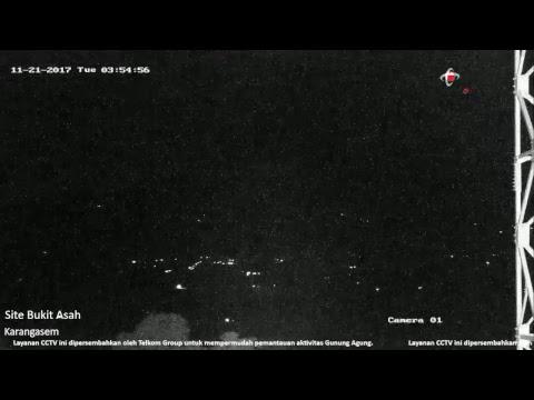 CCTV Pemantauan Aktivitas Gunung Agung dari Bukit Asah Karangasem